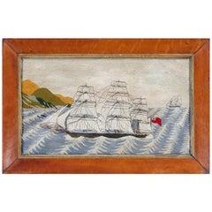 British Sailor's Woolwork Woolie on Unusual Sea, circa 1875