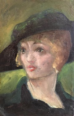 1920's Portrait of an Elegant Woman, Oil Painting, British