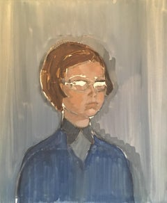 20th Century Portrait of a Young Woman, Oil Painting, British