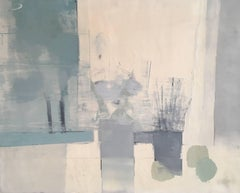Abstract Oil Painting, Pastel Blue Colours