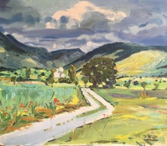 Impressionist Oil of a British Country Lane