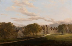 Knole House, English School 19th Century Country House Landscape Oil