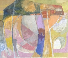 Pastel Color Combination, Abstract Cubism, Oil Painting
