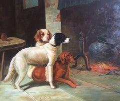 Springer Spaniel Sporting Dogs, British Oil Painting