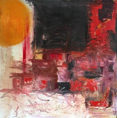 'Sun 2' Large British Abstract Oil Painting