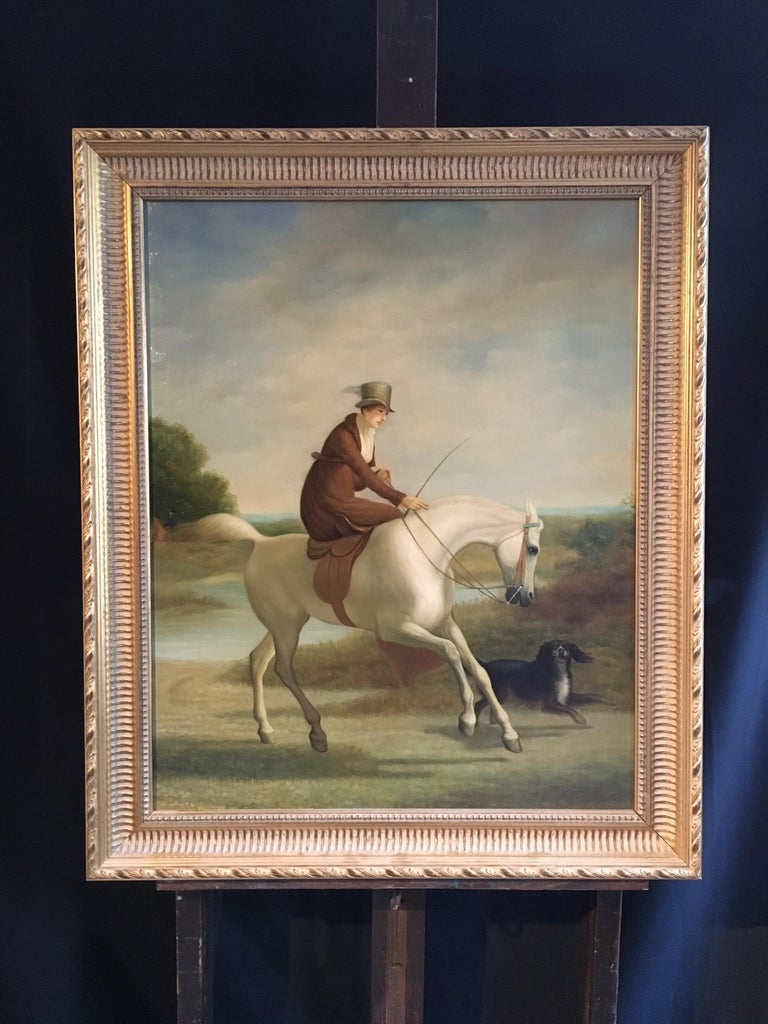 British School The Rider Fine Portrait Lady Side Saddle