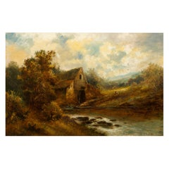 "British School '19th Century' Landscape Painting of ""The Old Mill"""