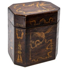 British Tea Caddy with Inlay