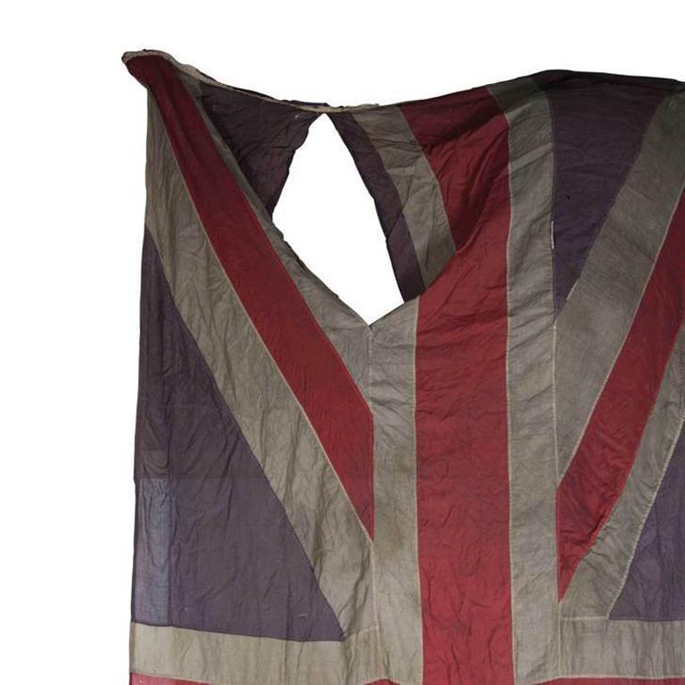 British Union Jack Flag from the 19th Century in a Heavily Distressed Condition In Distressed Condition For Sale In Tetbury, GB