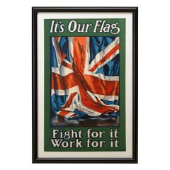 British Union Jack Antique Military Recruitment Poster, 1906