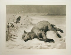 """Strayed From the Flock,"" Artist Signed Print, Engraved by Frederick Stacpoole"