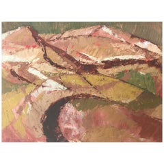 Britsh 1960s Small Abstract Landscape