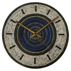 Britt-Louise Sundell for Gustavsberg Sweden Stoneware Clock