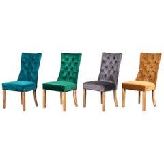 Brittany French Style Velvet Chair Range, 20th Century