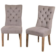 Brittany Linen Upholstered Chair Range, 20th Century