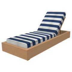 Brixton Teak Chaise Lounge 'Grade A' Wire Brushed Natural Wood, Cabana Regatta