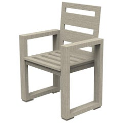 Brixton Teak Dining Chair 'Grade A' Wire Brushed Weathered Gray