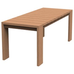 Brixton Teak Dining Table 'Grade A' Wire Brushed Natural Wood