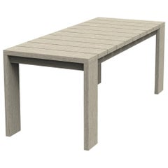 Brixton Teak Dining Table 'Grade A' Wire Brushed Weathered Gray