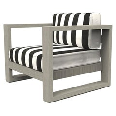 Brixton Teak Lounge Chair 'Grade A' Wire Brushed Weathered Gray, Cabana Classic