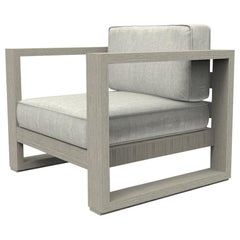 Brixton Teak Lounge Chair 'Grade A' Wire Brushed Weathered Gray, Canvas Granite