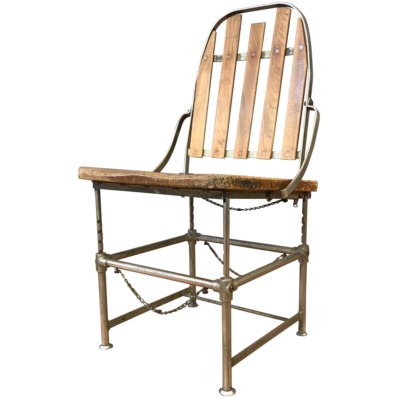 "Brizard & Young ""Adjustable Industrial Chair"", circa 1900"