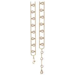 Brizo Rose Cut Diamond Ribbon Bracelet 18 Karat Gold