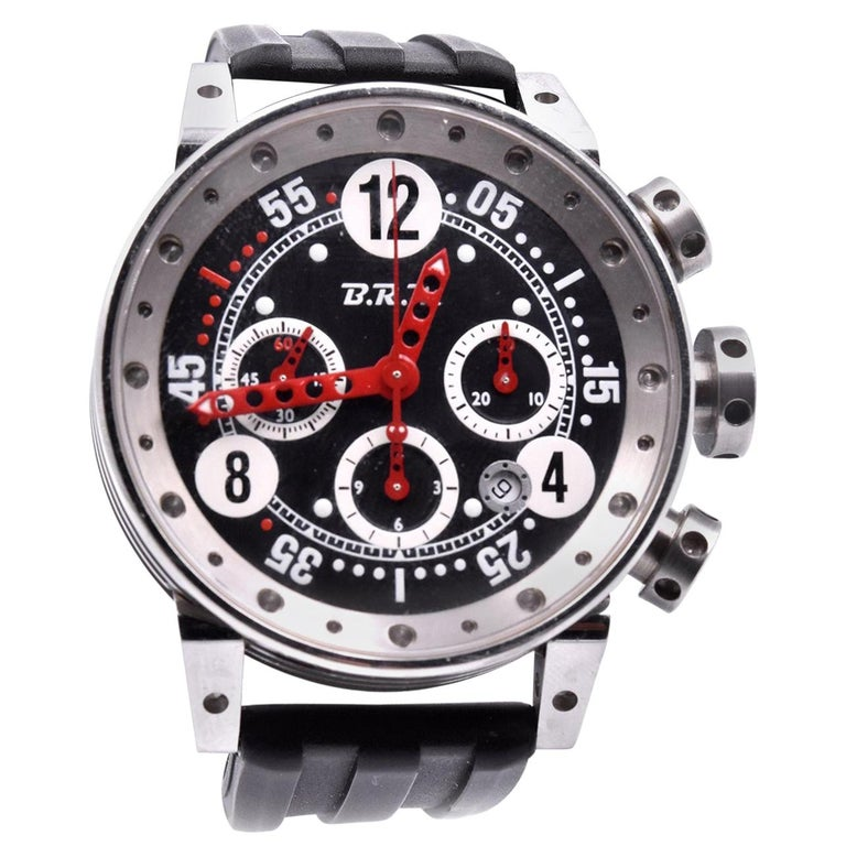 B.R.M Stainless Steel Chronograph Watch Ref. V12 For Sale