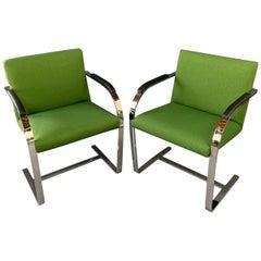 Brno Armchair with Chrome Frame, Knoll A Midcentury Masterpiece