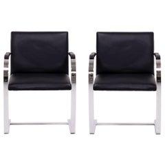 Brno Black Flat Bar Chairs, Knoll, Set of 2