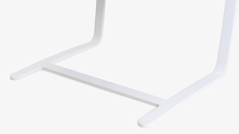 Steel Brno Flat-Bar Chairs in Dove Velvet, Lunar Gloss Frame, Set of Ten For Sale