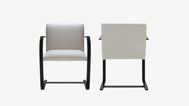 The definition of minimalism in a singular design, achieved by the great Ludwig Mies van der Rohe in 1929; the Brno Flat-Bar Chair is just that. Montage has edited these contemporary iteration authentic originals in a way that's never been done
