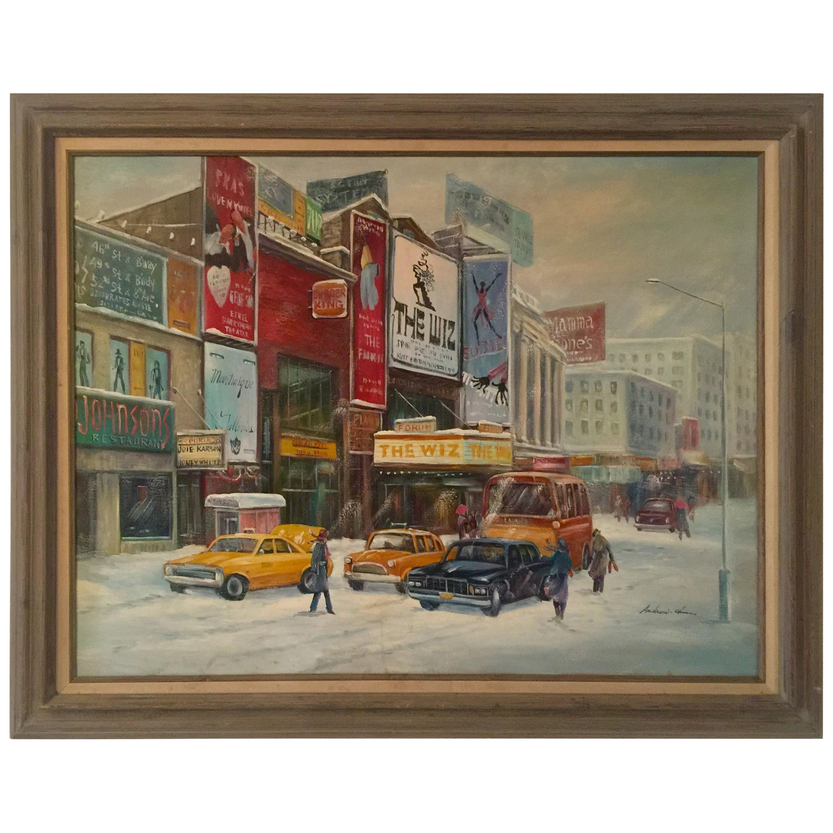 """Broadway"" NYC Street Scene Painting"