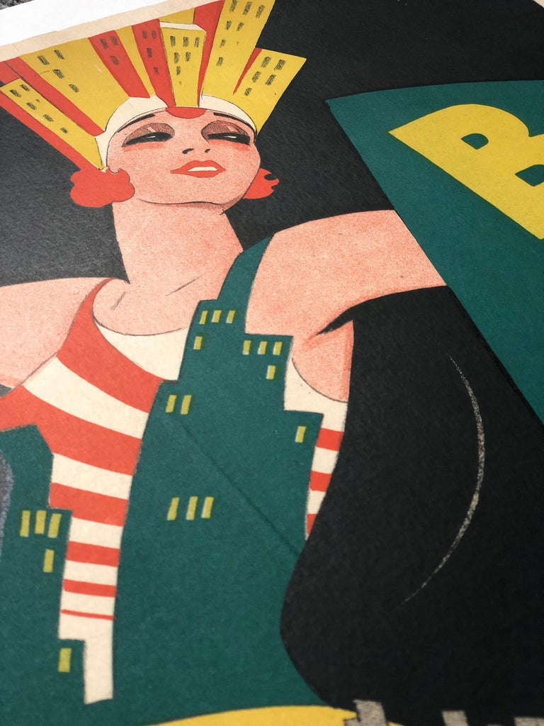 'Broadway' Original Vintage Movie Poster by Eric Rohman, Swedish, 1929 For Sale 4