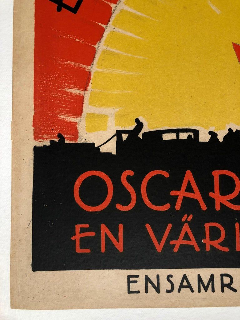 Early 20th Century 'Broadway' Original Vintage Movie Poster by Eric Rohman, Swedish, 1929 For Sale