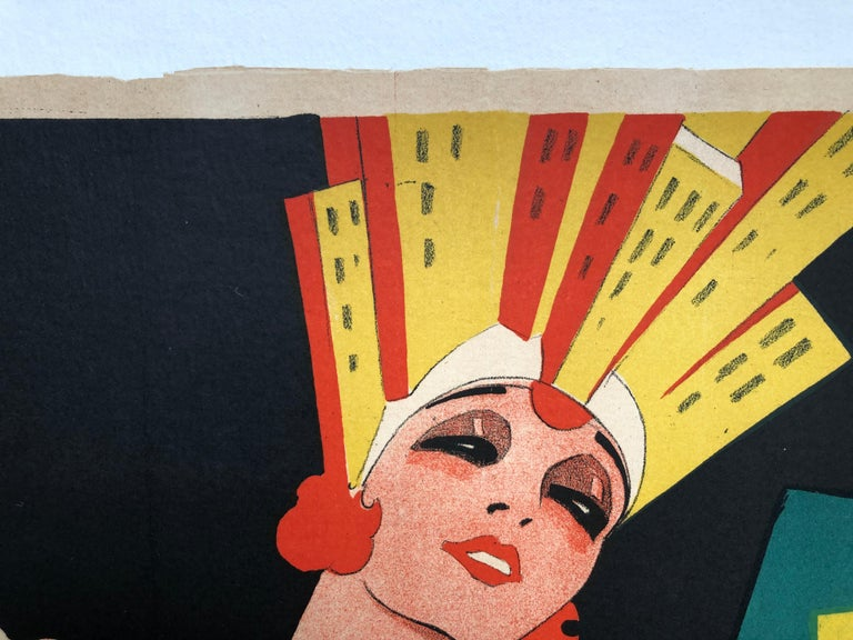 'Broadway' Original Vintage Movie Poster by Eric Rohman, Swedish, 1929 For Sale 3
