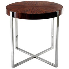 Broadway Side Table in Polished Stainless Steel Base