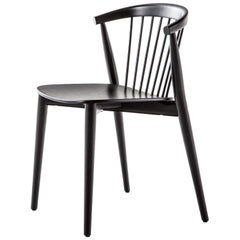 Brogliato Traverso Newood Chair in Black Stained Ash Structure for Cappellini