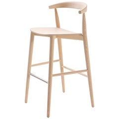 Brogliato Traverso Newood Light Bar Stool in Bleached Ash for Cappellini