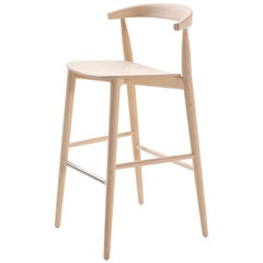 Brogliato Traverso Newood Light Bar Stool in Solid Ashwood for Cappellini