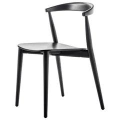 Brogliato Traverso Newood Light Chair in Black Stained Ash for Cappellini