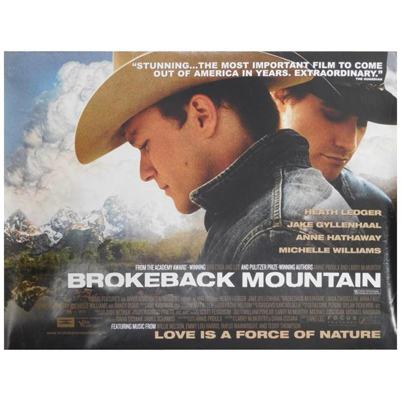 Brokeback Mountain 2005 Poster For Sale At 1stdibs