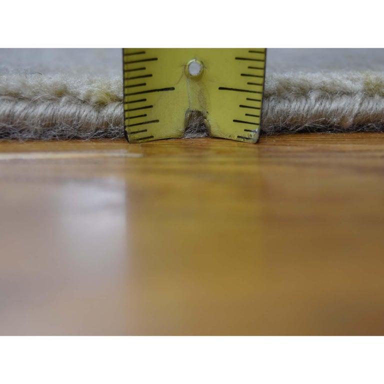 Broken Design Heriz Wool and Silk Oriental Rug Hand Knotted For Sale 4