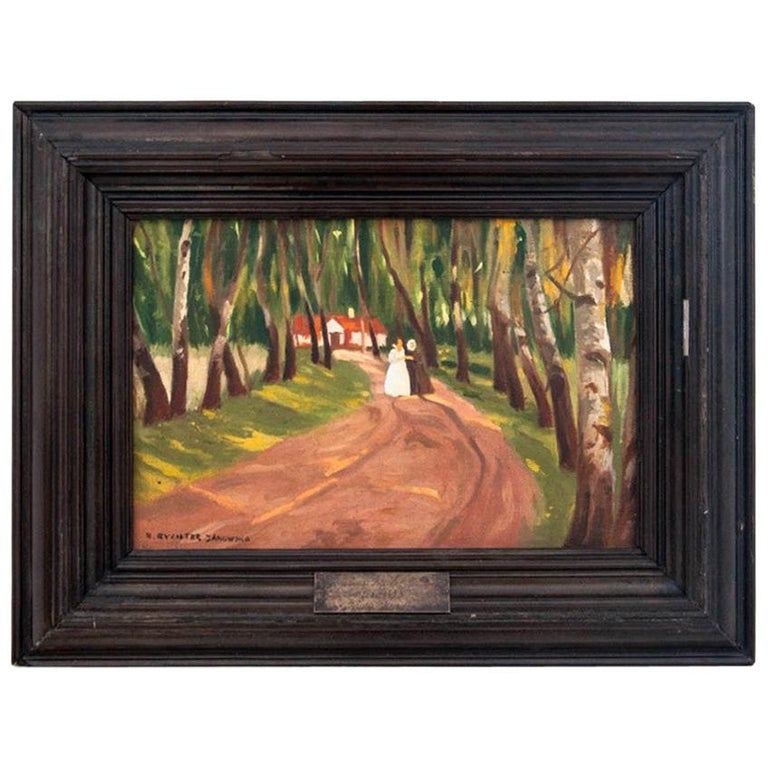 """Bronisława Rychter-Janowska """"The Road to the Manor in the Forest"""" For Sale"""