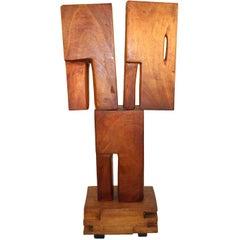 Bronka Stern 'The Shrine' Midcentury Constructivist Spiritual Wood Sculpture