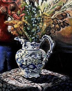 Delft and Silk, Painting, Oil on Canvas