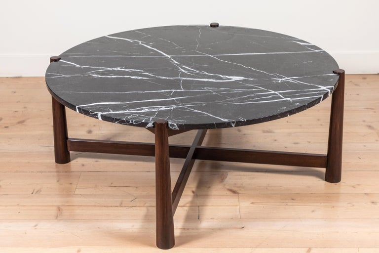 Mid-Century Modern Bronson Coffee Table Round by Lawson-Fenning For Sale