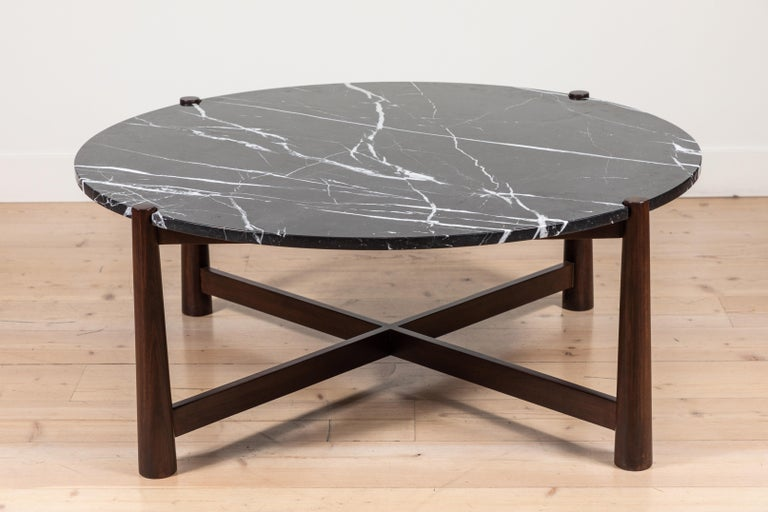 Contemporary Bronson Coffee Table Round by Lawson-Fenning For Sale