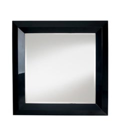 Bronx Mirror with Black Lacquered Wood