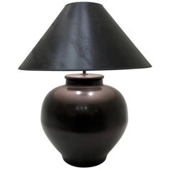 Bronze Ming Base Table Lamp by Karl Springer